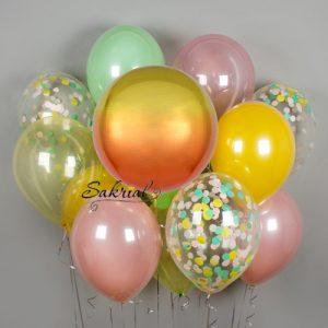 Солнечный набор шаров с гелием