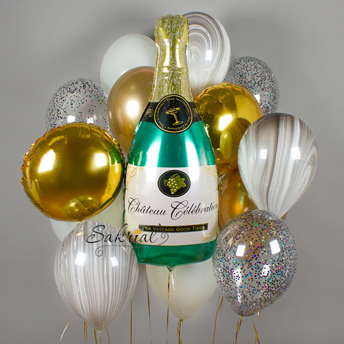 Набор шариков с шампанским
