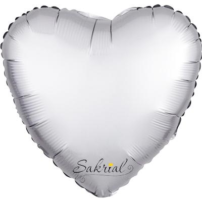 Сердце Сатин «Серебро»