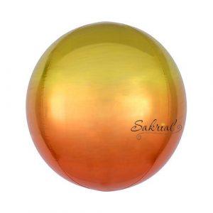 шар сфера омбре жёлто оранжевая