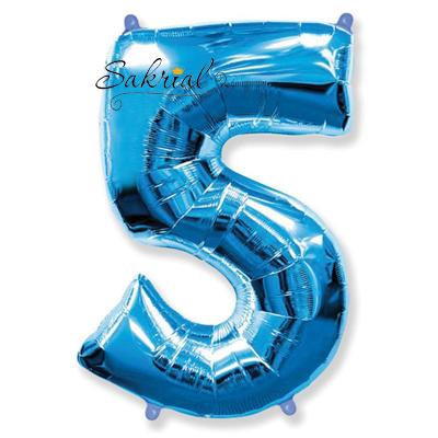 Фольгированная цифра «5» синяя