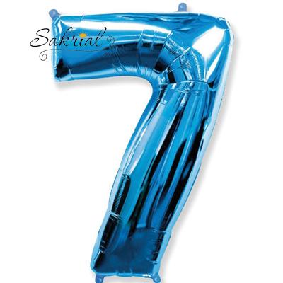 Фольгированная цифра «7» синяя