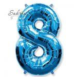 Фольгированная цифра «8» синяя