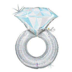 Шар Обручальное кольцо голографическое