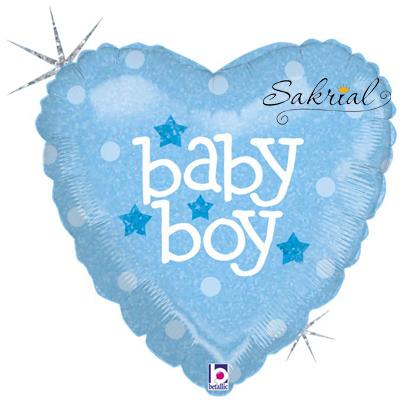 Сердце Baby Boy Голографическое