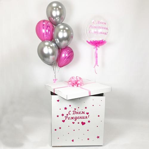 Коробка с шарами на день рождения девочки в киеве