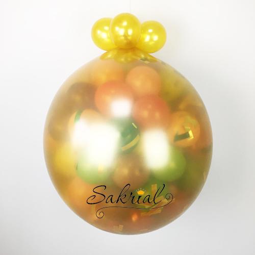 Золотой шар сюрприз