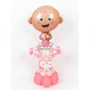 Фигурка девочка из шаров на выписку из роддома