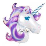 Фольгированный шарик Фиолетовый Единорог