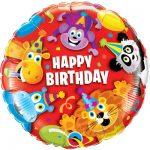 Купить фольгированный шар на день рождения с африканскими животными