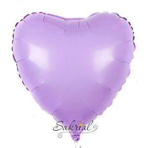 Фольгированный шар сердце сиреневое матовое купить в Киеве