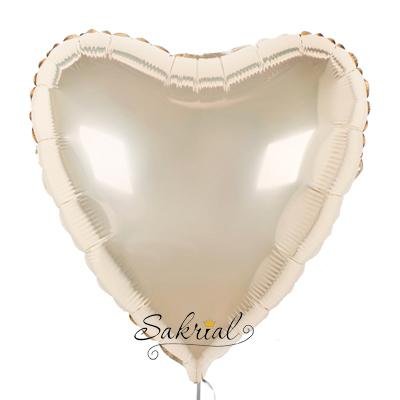 Фольгированный шарик цвета шампань купить киев