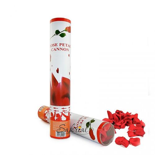 Хлопушка красные лепестки роз