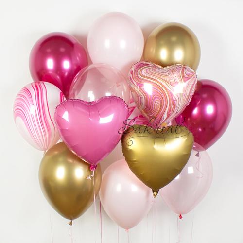 Самый красивый набор шариков в розовых цветах