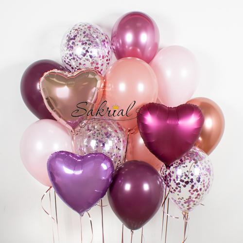 Красивый набор шариков для девушки на оболони