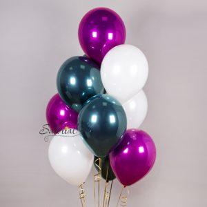 Дизайнерские гелиевые шары ассорти