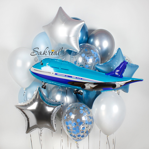 Купить Набор шариков с самолётом