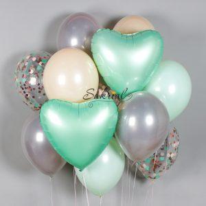 Набор шариков с мятными сердцами