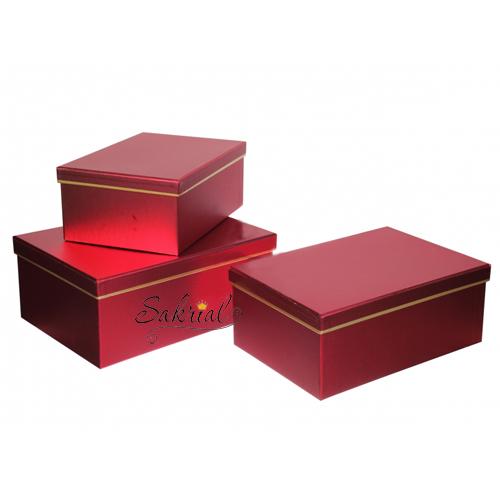 Купить красную коробку для подарков в Киеве