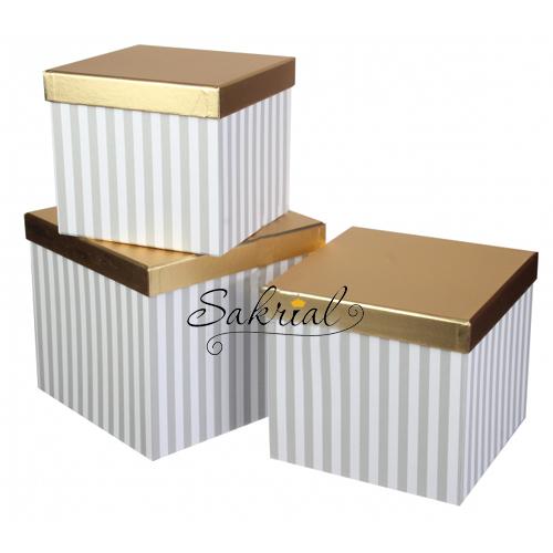 Красивые подарочные коробки с полосками купить в киеве