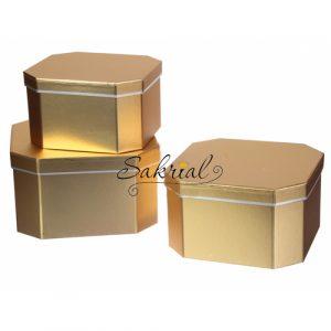 Подарочная коробка золотая купить в киеве