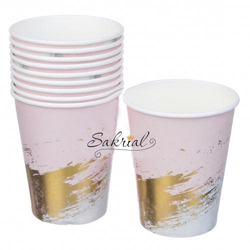 Купить бумажные Стаканчики розовые с золотом в Киеве