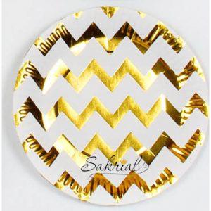 Купить бумажные Тарелки золотой зигзаг в Киеве
