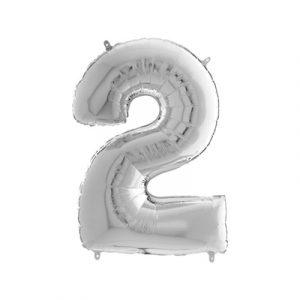 Шарик фольгированная цифра 2