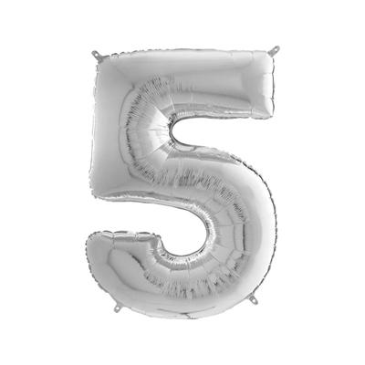 Шарик фольгированная цифра 5 купить в киеве