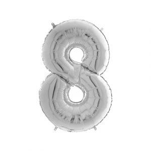 Шарик фольгированная цифра 8