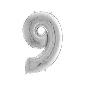 Шарик фольгированная маленькая цифра 9