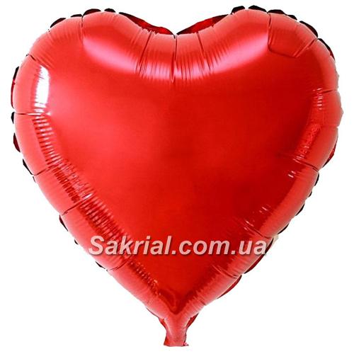 Купить Большое красное сердце шарик