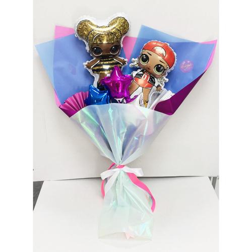 Крафтовый букетик из шаров куколки