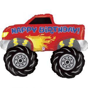 Шарик с гелием Монстр-трак (Monster Truck) на день рождения