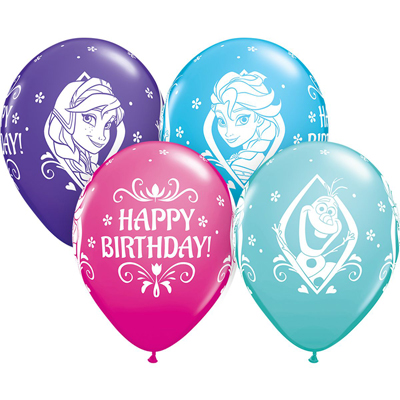 Гелиевые шары с рисунком Happy Birthday Холодное сердце купить в киеве