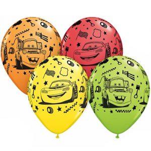 Купить Гелиевые шары с рисунком машинки тачки в Киеве