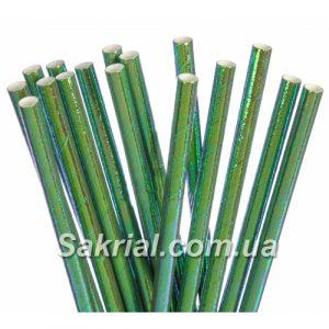 Коктеёльные трубочки голографические зелёные