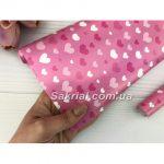 Упаковочная бумага (Сердечки на розовом)