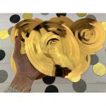 Золотая спираль для украшения праздника