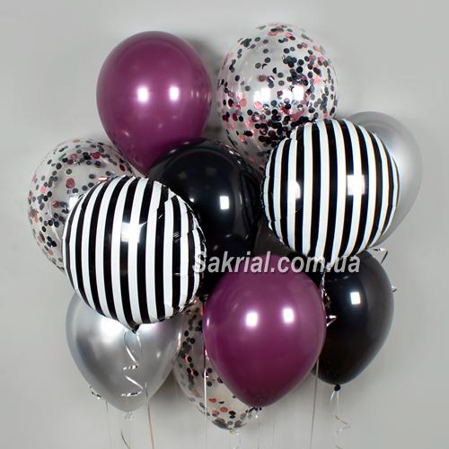 Набор шариков с полосатыми шарами