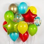 Яркий разноцветный набор шариков