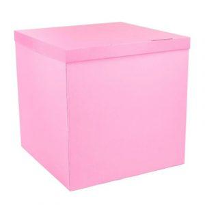 Розовая коробка для шаров в Киеве на Оболони
