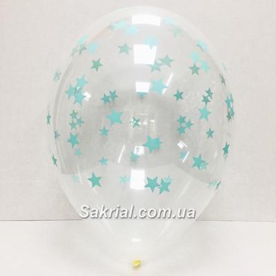 Прозрачный шар с мятными звездами