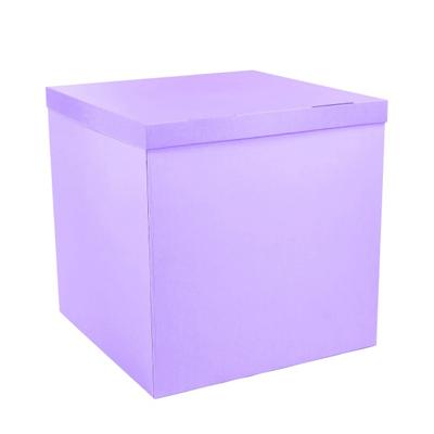 Лавандовая коробка для шаров купить в Киеве