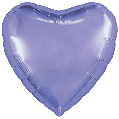 Шарик Сердце пастель сатин «Лавандовое»