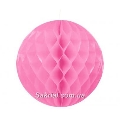 Бумажный шар-соты розовый 25см