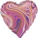Шарик Сердце Агат Фиолетовый