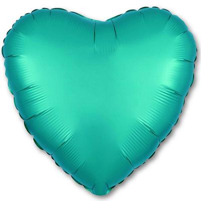 Шарик Сердце Сатин «Бирюзовое»