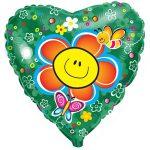 Шарик Сердце с цветочком купить в Киеве