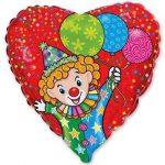 Шарик Сердце с клоуном купить в Киеве